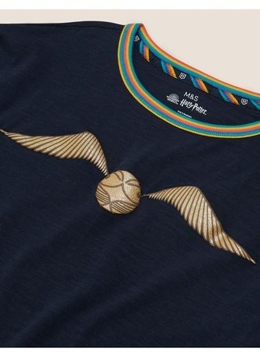 Marks & Spencer Harry Potter™ Desenli T-Shirt Lacivert